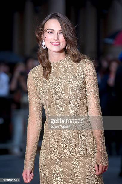 Keira Knightley attends the opening night gala screening of The Imitation Game during the 58th BFI London Film Festival at Odeon Leicester Square on...