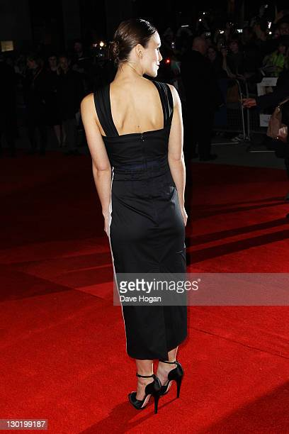 Keira Knightley attends the premiere for 'A Dangerous Method' at The 55th BFI London Film Festival at The Odeon West End on October 24 2011 in London...