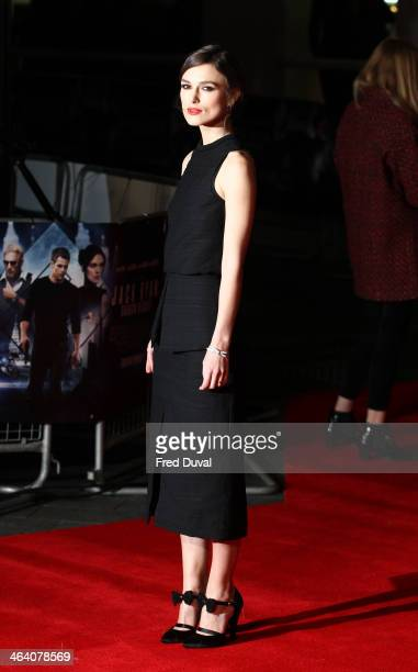 Keira Knightley attends the premiere of Jack Ryan Shadow Recruit at Vue West End on January 20 2014 in London England
