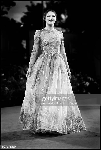 """Keira Knightley, attends the premiere of movie """"A Dangerous Method"""" , presented in competition at the 68th Venice International Film Festival."""