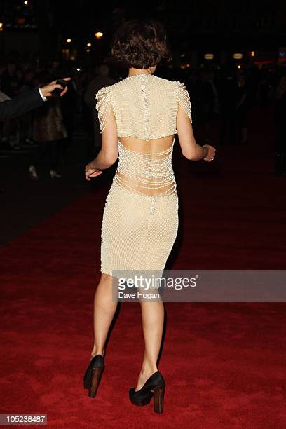 Keira Knightley attends the premiere of Never Let Me Go held at The Odeon Leicester Square on October 13 2010 in London England