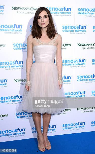 Keira Knightley attends the SeriousFun London Gala 2013 at The Roundhouse on December 3, 2013 in London, England.The Serious Fun Children's Network...