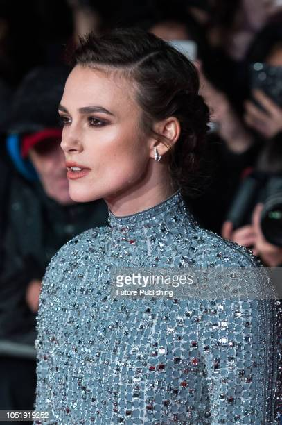 Keira Knightley attends the UK film premiere of 'Colette' at Cineworld Leicester Square during the 62nd London Film Festival BFI Patrons Gala October...