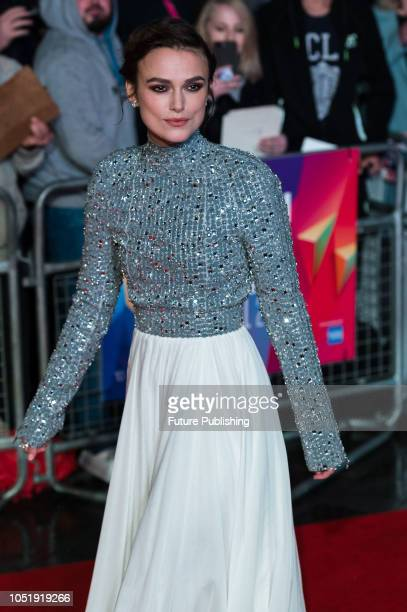 Keira Knightley attends the UK film premiere of 'Colette' at Cineworld, Leicester Square during the 62nd London Film Festival BFI Patrons Gala....