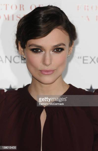 Keira Knightley attends the UK gala premiere of 'A Dangerous Method' at The Mayfair Hotel on January 31, 2012 in London, England.