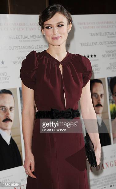 Keira Knightley attends the UK Gala Premiere of A Dangerous Method at The Mayfair Hotel on January 31 2012 in London England