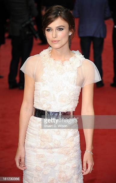 Keira Knightley attends the UK Premiere of Anna Karenina on September 4 2012 in London United Kingdom