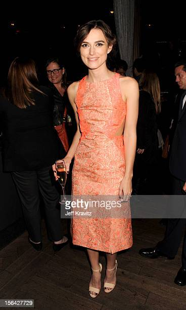 Keira Knightley celebrates at the after party for 'Anna Karenina' at Greystone Manor Supperclub on November 14 2012 in West Hollywood California