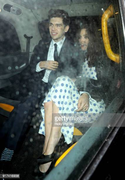Keira Knightley departs The Box Club after attending the Weinstein and Grey Goose preBAFTA Dinner on February 15 2014 in London England
