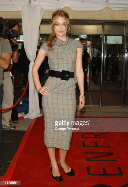 Keira Knightley during 2005 Toronto Film Festival Pride and Prejudice Premiere at Roy Thompson Hall in Toronto Canada
