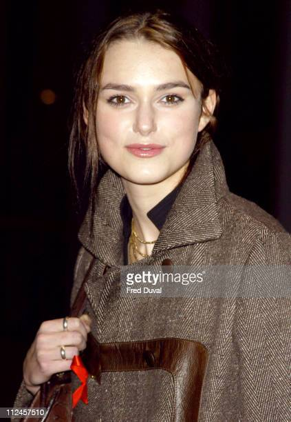 Keira Knightley during Keira Knightley Attends AIDS Lecture On World AIDS Day at City Hall in London United Kingdom