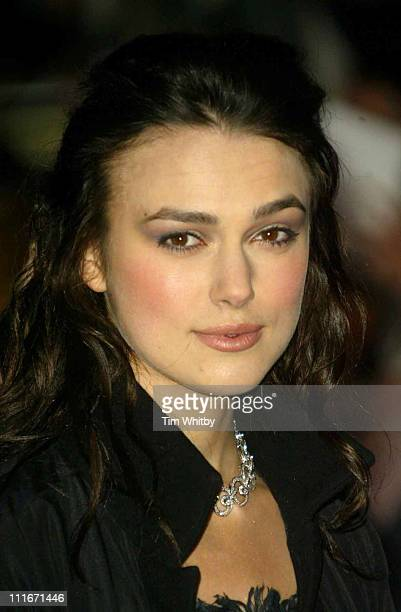 Keira Knightley during 'Love Actually' London Premiere Arrivals at The Odeon Leicester Square in London United Kingdom