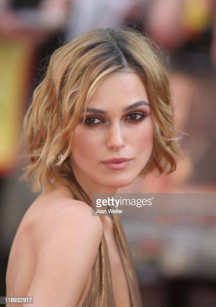 Keira Knightley during 'Pirates Of The Caribbean 2 Dead Man's Chest' London Premiere Outside Arrivals at Odeon Leicester Square in London Great...