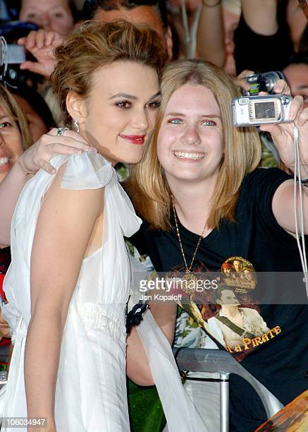 Keira Knightley during 'Pirates of the Caribbean Dead Man's Chest' Los Angeles Premiere Arrivals at Disneyland/Main Street in Anaheim California...