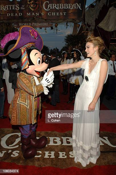 Keira Knightley during 'Pirates of the Caribbean Dead Man's Chest' World Premiere Red Carpet at Disneyland in Anaheim California United States