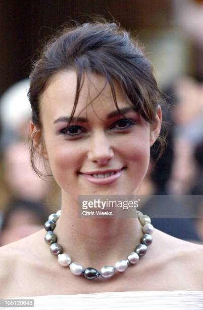 Keira Knightley during 'Pirates of the Caribbean The Curse of the Black Pearl' World Premiere at Disneyland in Anaheim California United States