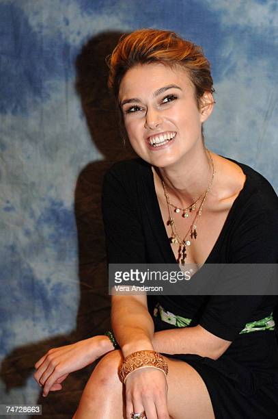 Keira Knightley during Pride and Prejudice Press Conference with Keira Knightley at the Soho Hotel in London England