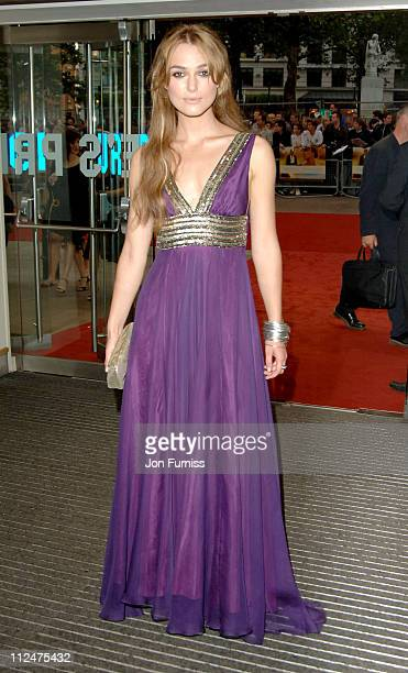 Keira Knightley during Pride Prejudice London Premiere Inside Arrivals at Odeon in London Great Britain