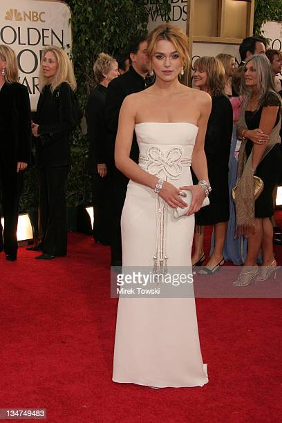 Keira Knightley during The 63rd Annual Golden Globe Awards Arrivals at Beverly Hilton Hotel in Beverly Hills California United States