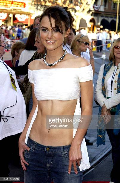"""Keira Knightley during The World Premiere of """"Pirates of The Caribbean: The Curse of The Black Pearl"""" at Disneyland in Anaheim, California, United..."""