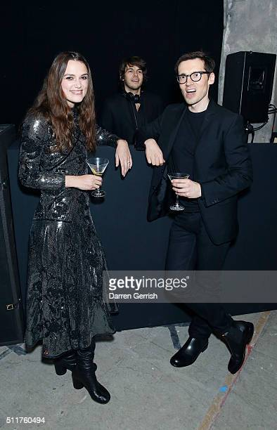 Keira Knightley Erdem Moralõoglu and James Righton attend the Erdem x Selfridges Wrap Party during London Fashion Week Autumn/Winter 2016/17 at on...