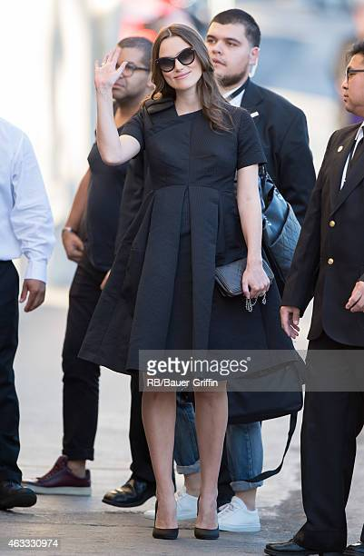 Keira Knightley is seen at 'Jimmy Kimmel Live' on February 12, 2015 in Los Angeles, California.