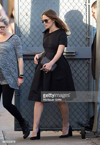Keira Knightley is seen at 'Jimmy Kimmel Live' on February 12 2015 in Los Angeles California