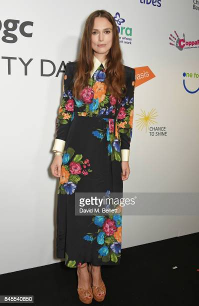 Keira Knightley representing SMA Trust attends BGC Charity Day on September 11 2017 in London United Kingdom