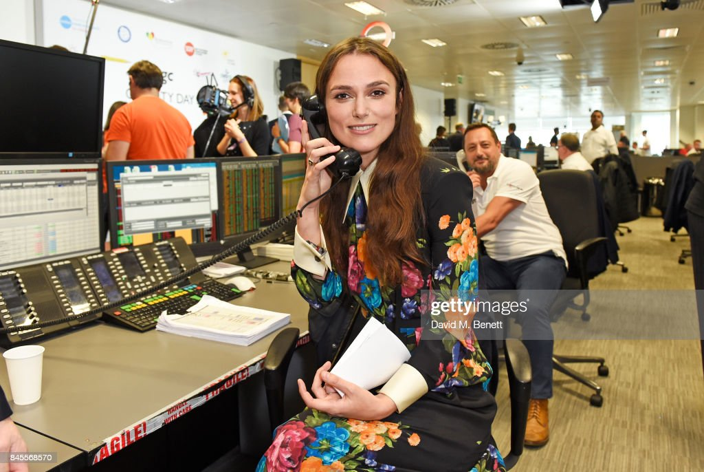 Keira Knightley, representing SMA Trust, makes a trade at BGC Charity Day on September 11, 2017 in London, United Kingdom.