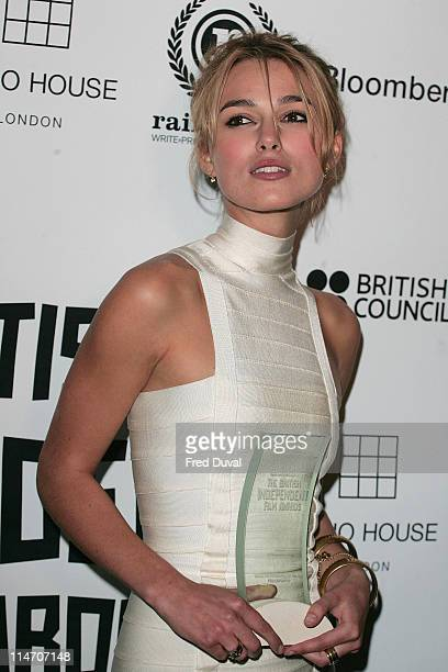 Keira Knightley, winner of the Variety UK Personality Awards