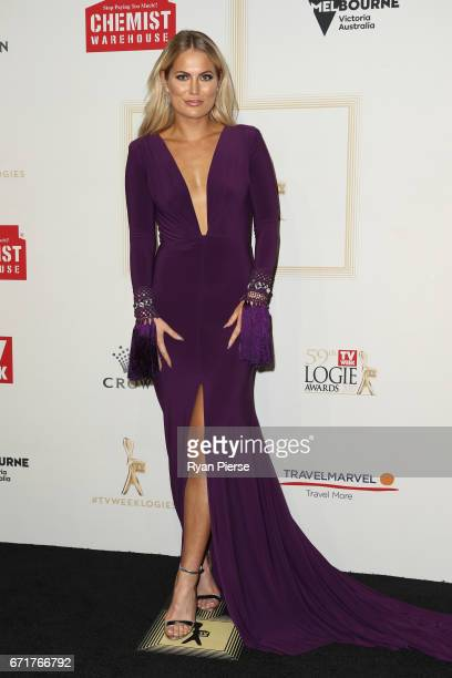 Keira Maguire arrives at the 59th Annual Logie Awards at Crown Palladium on April 23 2017 in Melbourne Australia
