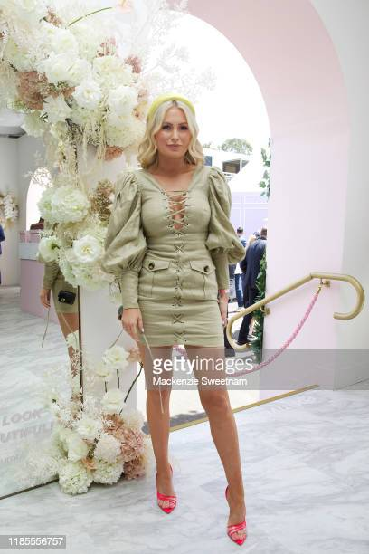 Keira Maguire attends the Bumble marquee on Melbourne Cup Day at Flemington Racecourse on November 05 2019 in Melbourne Australia