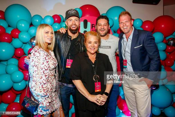 Keira Maguire Byron Cooke Yvie Jones Brendan fevola and jarrod Woodgate attend the Fox FM Thank U Ex Singles Party on August 22 2019 in Melbourne...