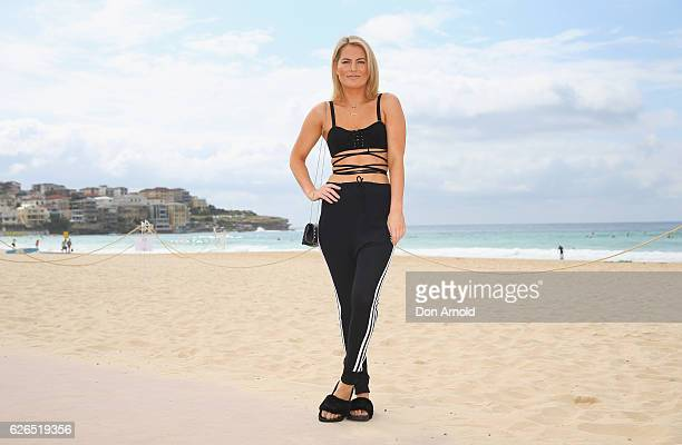 Keira Maguire poses during The Iconic Summer 2017 Swim Collection Fashion Show at Bondi Beach on November 30 2016 in Sydney Australia