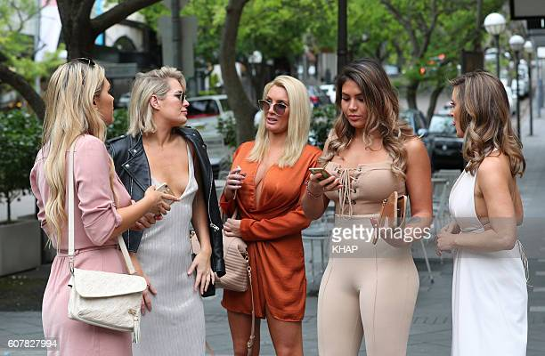 Keira Maguire Rachael Gouvignon Noni Janur and Kirralee 'Kiki' Morris pictured leaving Mrs Sippy Double Bay on September 17 2016 in Sydney Australia