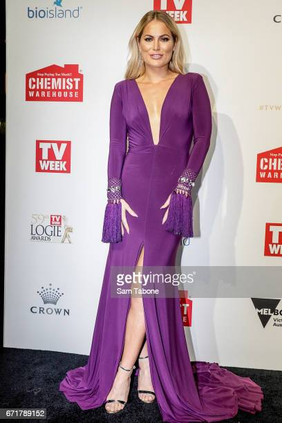 Keira Mcguire arrives at the 59th Annual Logie Awards at Crown Palladium on April 23 2017 in Melbourne Australia
