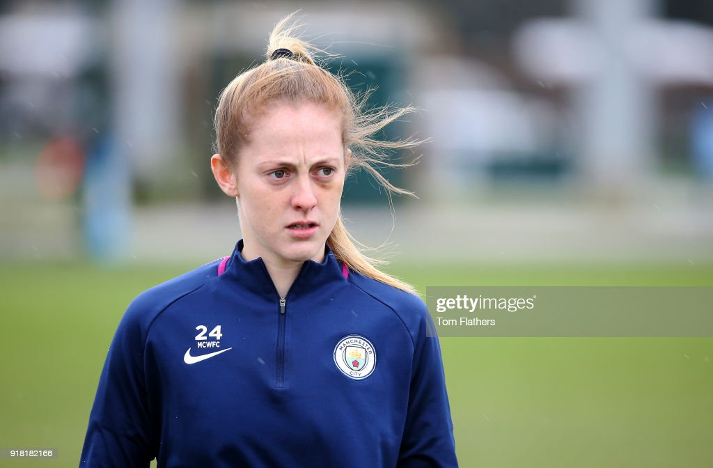 Keira Walsh during training at Manchester City Football Academy on February 14, 2018 in Manchester, England.