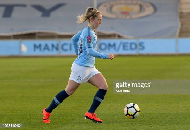 Keira Walsh Manchester England 03rd February during the SSE Women's FA Cup fourth round football match between Manchester City Women and Watford...