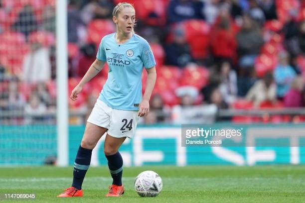 Keira Walsh of Manchester City on the ball during the Women's FA Cup Final match between Manchester City Women and West Ham United Ladies at Wembley...