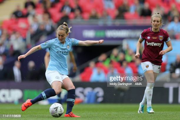 Keira Walsh of Manchester City Women scores a goal to make it 10 during the Women's FA Cup Final match between Manchester City Women and West Ham...