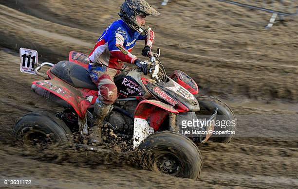 Keiran Power Quad bikes competitor in the Hydrogarden Western Beach Race on October 8 2016 in WestonSuperMare England