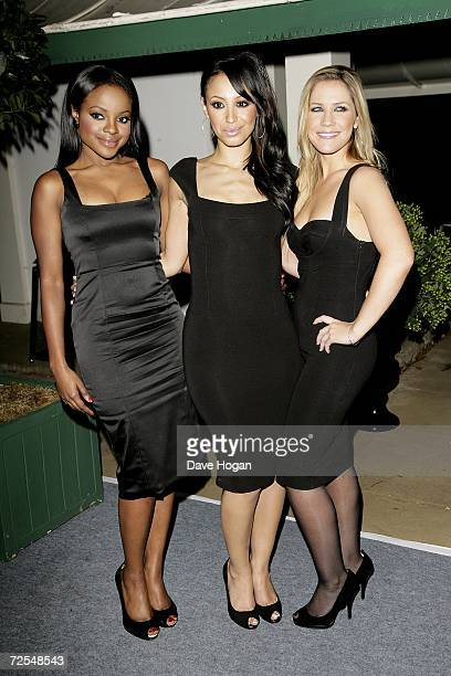 Keisha Buchanan Amelie Berrabah and Heidi Range of the Sugababes attend the Casino Royale After Party held in Berkley Square on November 14 in London...