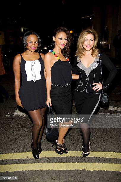 Keisha Buchanan Amelle Berrabah and Heidi Range of the Sugababes attend the launch party for their new Album 'Catfights and Spotlights' at the Jean...