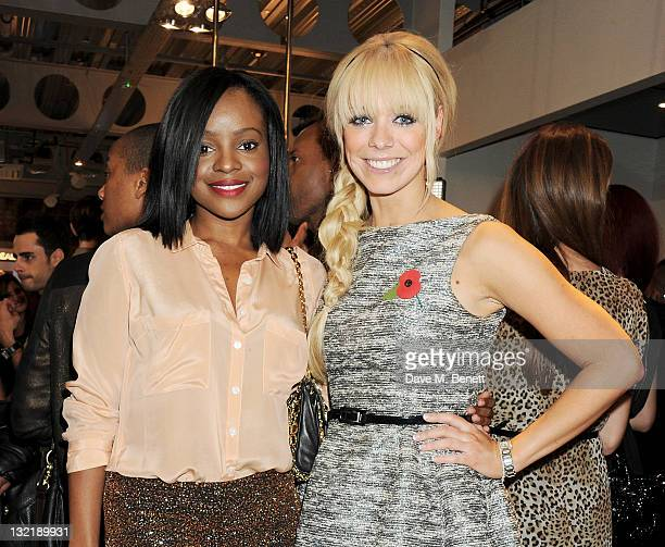 Keisha Buchanan and Liz McClarnon attend a launch party for 'The House Of Rush' beauty sanctuary at 200 Piccadilly on November 10 2011 in London...