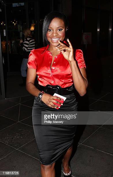 Keisha Buchanan arrives at the Late Late Toy Show special in the RTE Studios on November 30 2007 in Dublin Ireland
