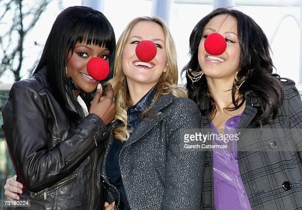 Keisha Buchanan Heidi Range and Amelle Berrabah launch of The Sugababes at the launch of Red Nose Day at The British Airways London Eye on January 31...