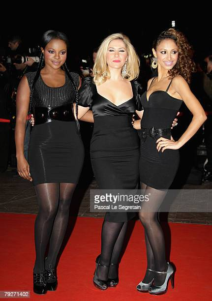 Keisha Buchanan Heidi Range and Amelle Berrabah of Sugababes attends the 2008 NRJ Music Awards held at the Palais des Festivals on January 26 2008 in...