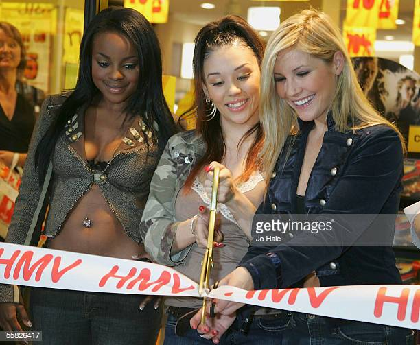 Keisha Buchanan Heidi Range and Mutya Buena of the Sugababes officially open the new HMV store in east London at the Stratford Centre on September 29...