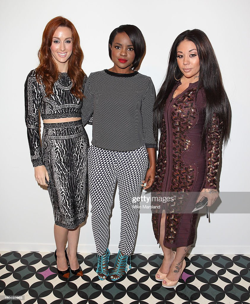 Keisha Buchanan, Mutya Buena and Siobhan Donaghy attend the PPQ show during London Fashion Week SS14 at BFC Courtyard Showspace on September 13, 2013 in London, England.