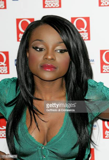 Keisha Buchanan of Sugababes during 2005 Q Awards at Grosvenor House Hotel Park Lane in London Great Britain
